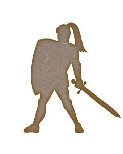 Knight MDF Laser Cut Craft Blanks in Various Sizes