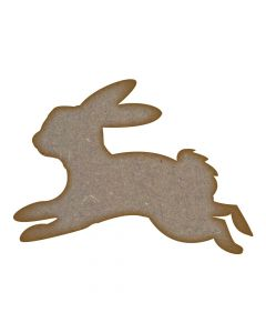 Leaping Bunny MDF Laser Cut Craft Blanks in Various Sizes