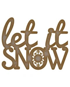 Let It Snow Quote - Large (210mm x 265mm)