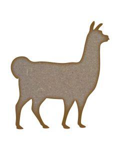 Llama MDF Laser Cut Craft Blanks in Various Sizes