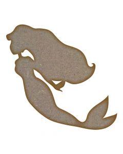 Mermaid (Design 1) - MDF Laser Cut Craft Blanks in Various Sizes