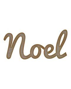 Noel Word MDF Laser Cut Craft Blanks in Various Sizes
