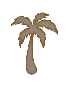 Palm Tree MDF Laser Cut Craft Blanks in Various Sizes