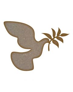 Peace Dove - MDF Laser Cut Craft Blanks in Various Sizes