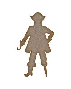 Pirate MDF Laser Cut Craft Blanks in Various Sizes