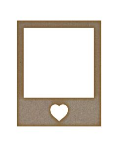 Retro Photo Frame - heart MDF Laser Cut Craft Blanks in Various Sizes