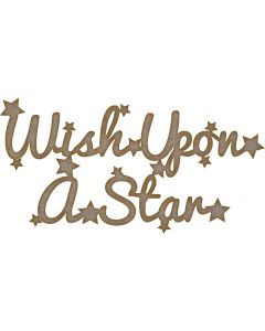Quotes: Wish Upon a Star (150mm x 77mm)
