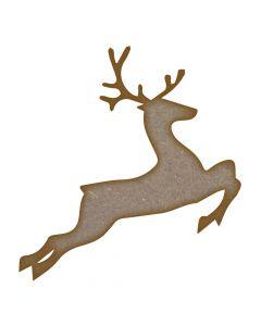 Reindeer MDF Laser Cut Craft Blanks in Various Sizes