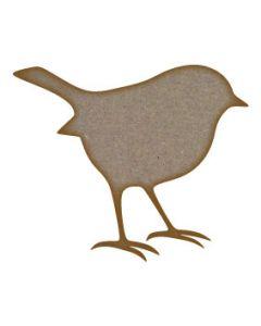 Robin Bird MDF Laser Cut Craft Blanks in Various Sizes