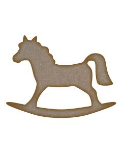 Rocking Horse (Design 2) MDF Laser Cut Craft Blanks in Various Sizes