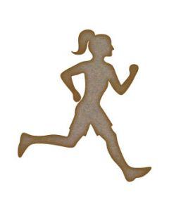 Runner Girl MDF Laser Cut Craft Blanks in Various Sizes