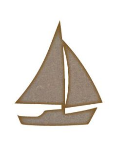 Sailing Boat MDF Laser Cut Craft Blanks in Various Sizes