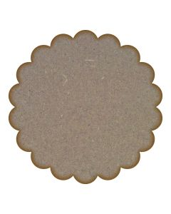 Scallop Circle MDF Laser Cut Craft Blanks in Various Sizes