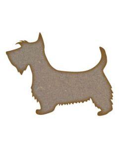 Scottie Dog MDF Laser Cut Craft Blanks in Various Sizes