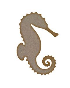 Seahorse MDF Laser Cut Craft Blanks in Various Sizes