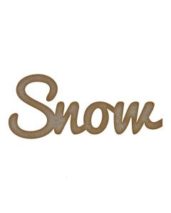 Snow Word MDF Laser Cut Craft Blanks in Various Sizes