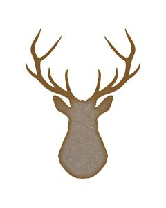 Stag Head  - MDF Laser Cut Craft Blanks in Various Sizes