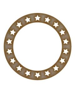 star circle frame MDF Laser Cut Craft Blanks in Various Sizes