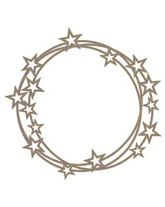Star Wreath Frame MDF Laser Cut Craft Blanks in Various Sizes