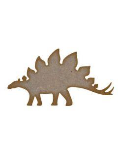 Stegosaurus Dinosaur MDF Laser Cut Craft Blanks in Various Sizes