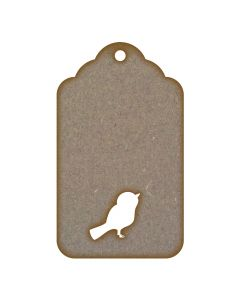 Tag Cut Out Bird MDF Laser Cut Craft Blanks in Various Sizes