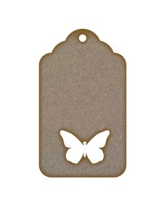 Tag Cut Out Butterfly MDF Laser Cut Craft Blanks in Various Sizes