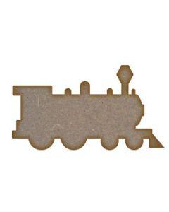 Train (Design 2) MDF Laser Cut Craft Blanks in Various Sizes