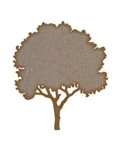 Tree (Design 3) MDF Laser Cut Craft Blanks in Various Sizes
