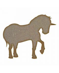 Unicorn (Design 2) - MDF Laser Cut Craft Blanks in Various Sizes