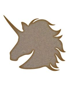 Unicorn Head MDF Laser Cut Craft Blanks in Various Sizes