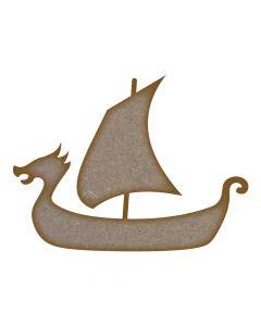 Viking Boat MDF Laser Cut Craft Blanks in Various Sizes
