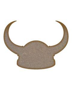Viking Helmet MDF Laser Cut Craft Blanks in Various Sizes