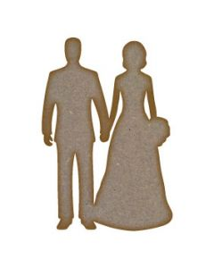 Wedding Couple 5 MDF Laser Cut Craft Blanks in Various Sizes