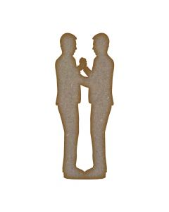 Wedding Couple Grooms - Small (36mm x 90mm)