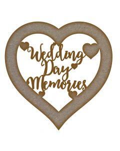 wedding day memories MDF Laser Cut Craft Blanks in Various Sizes