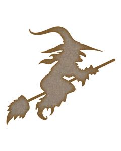 Witch MDF Laser Cut Craft Blanks in Various Sizes