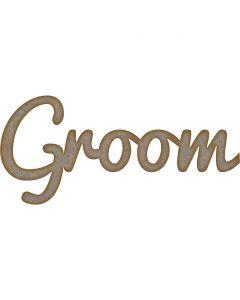 Groom Word MDF Laser Cut Craft Blanks in Various Sizes