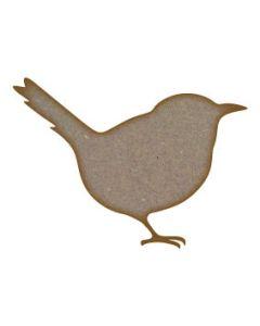 Wren Bird MDF Laser Cut Craft Blanks in Various Sizes