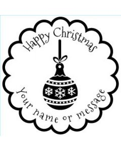 Personalised Christmas Stamp - Ornament  - Small (48mm Square)