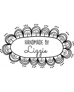 Personalised Handmade By Stamp - Hand Drawn Oval