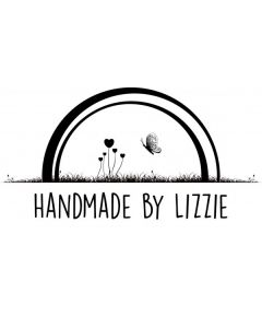 Personalised Handmade By Stamp - Rainbow Butterfly
