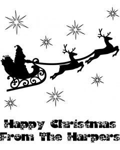 Personalised Christmas Stamp - Santa's Sleigh