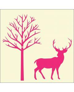 Fairydust Stencils & Masks - Christmas Stag & Tree