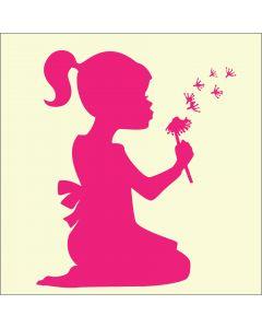 Fairydust Stencils & Masks - Blowing Dandelions (girl)