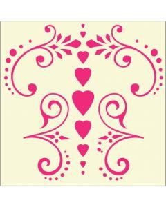 Fairydust Stencils & Masks - Swirl dots and Hearts