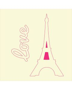 Fairydust Stencils & Masks - Eiffel Tower Love