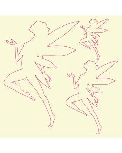 Fairydust Stencils & Masks - Fairy Masks (Design 1)