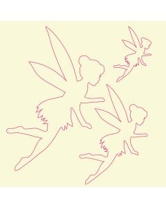 Fairydust Stencils & Masks - Fairy Masks (Design 2)