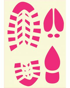 Fairydust Stencils & Masks - A4 Christmas footprints (Santa, Elf & Reindeer)