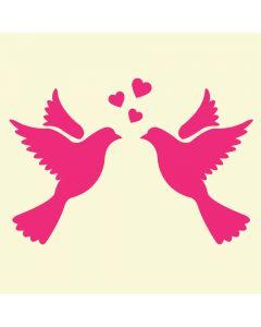 Fairydust Stencils & Masks - Love Birds
